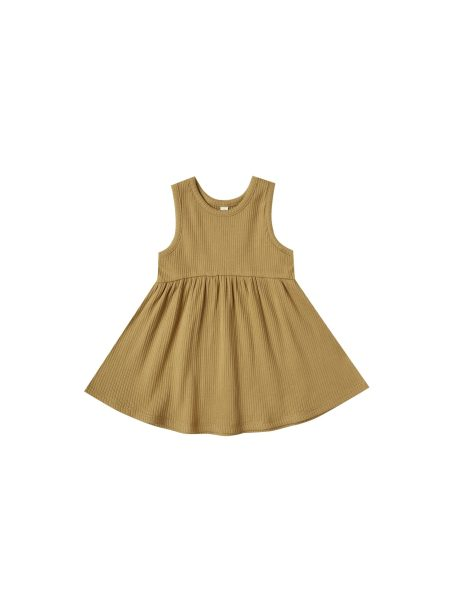 Quincy Mae Ribbed Tank Dress (ocre)