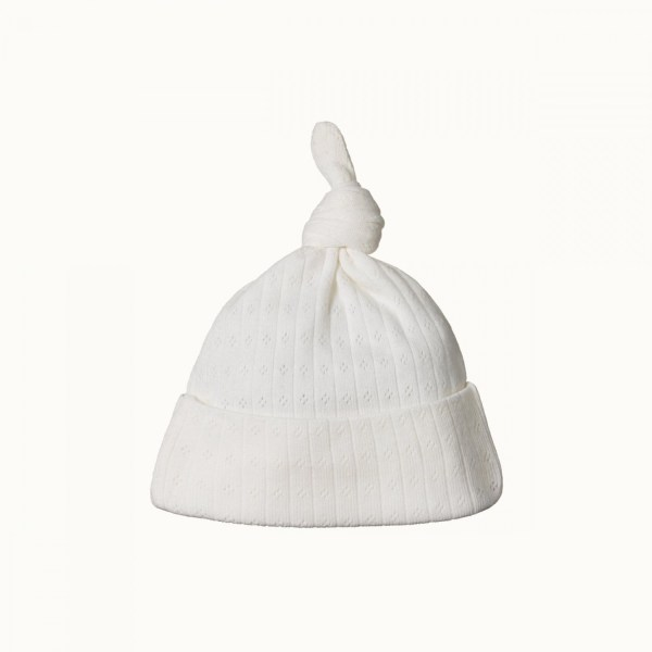 Nature Baby Pointelle Knotted Beanie