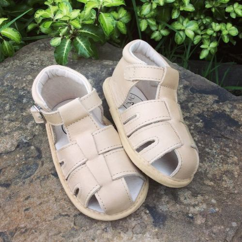Little Ma Zoes Wax Leather  Sandals (sand)