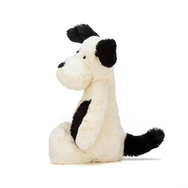 JellyCat Bashful Black and Cream Puppy Meduim