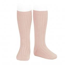Condor Rib Knee High Socks (old rose)