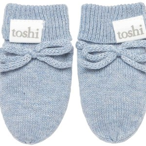 Toshi Organic Knitted Baby Mittens (tide)