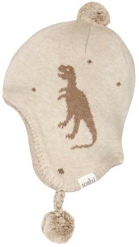 Toshi Organic Earmuff Storytime Beanie (t rex)
