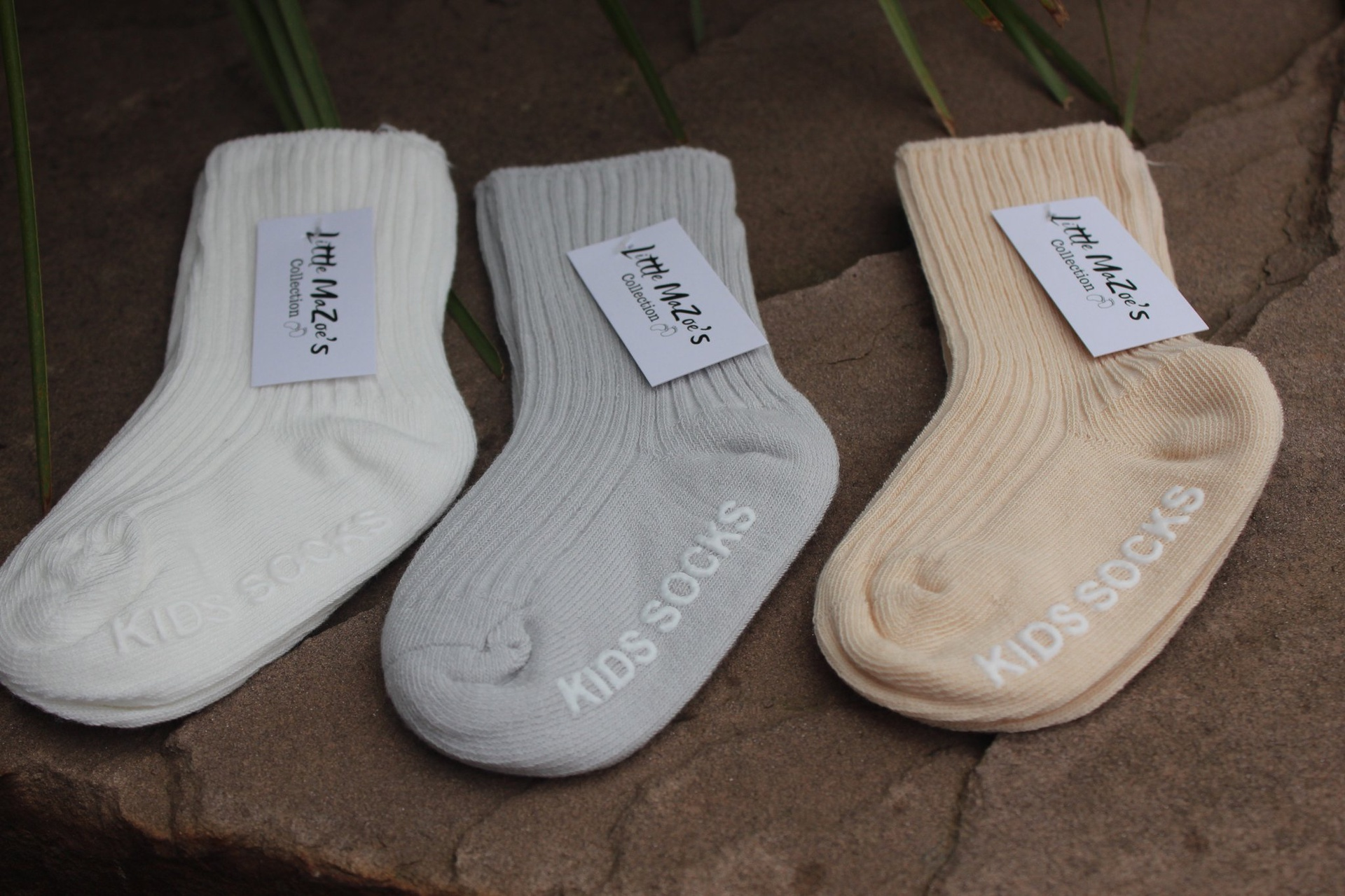Little Ma Zoes Ankle Socks (grey