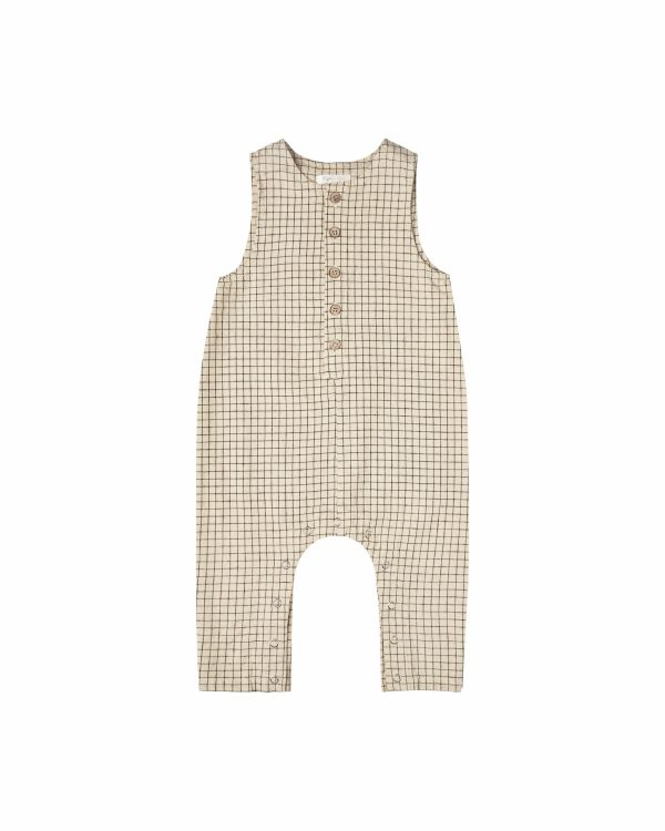 Rylee and Cru Button Jumpsuit (butter grid)