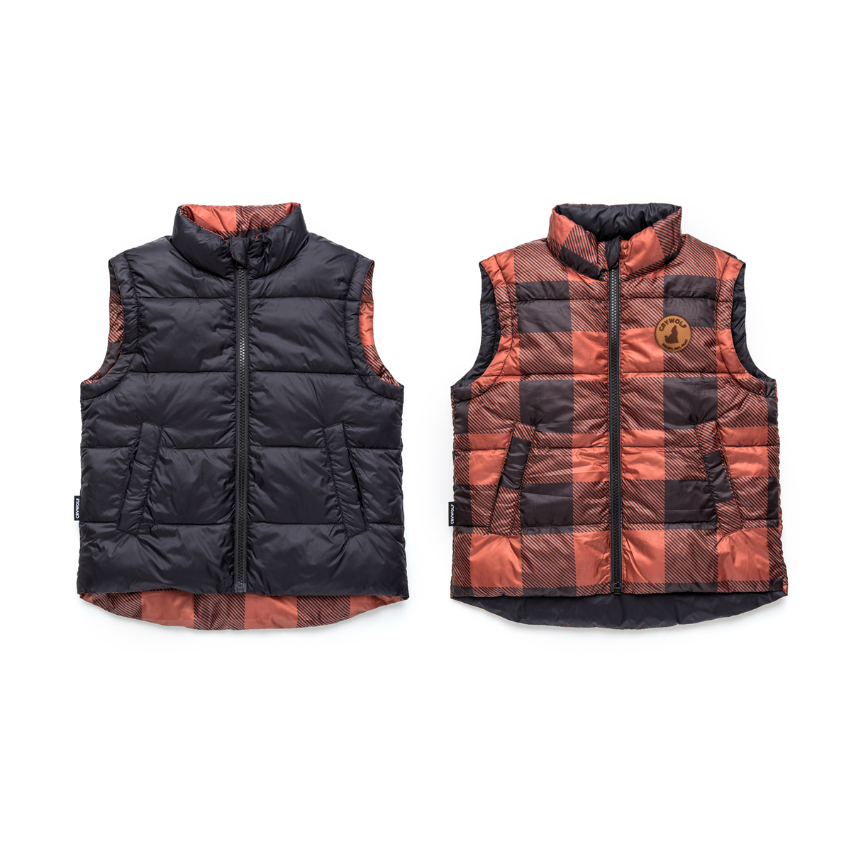 Cry Wolf Reversible Vest (plaid)