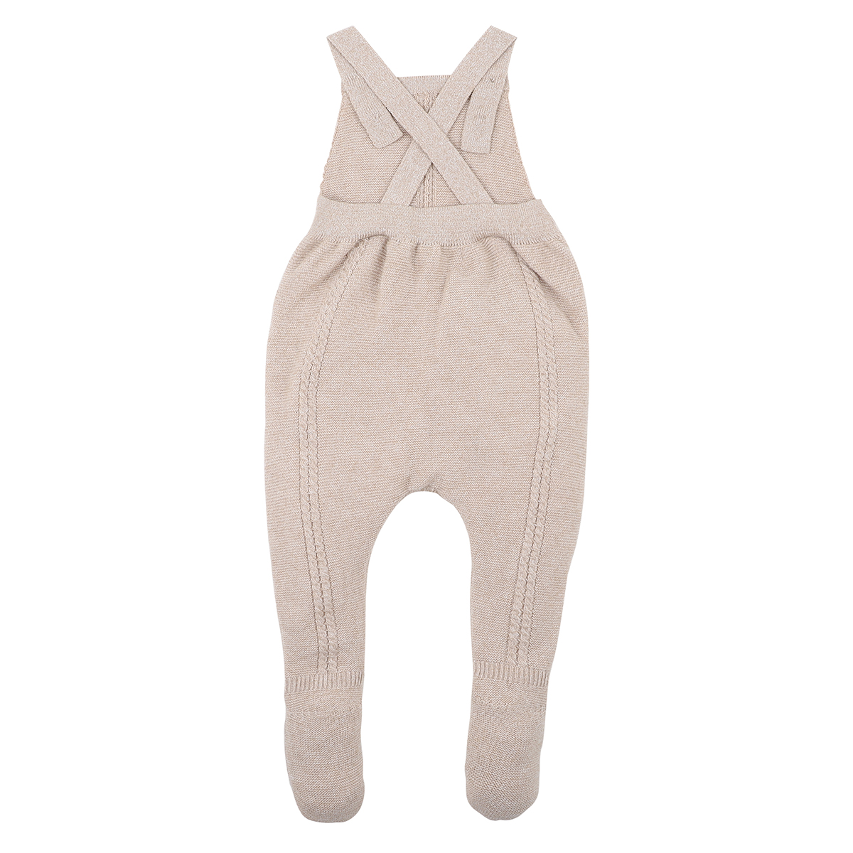 Bebe Footed Knit Overall (mouse)