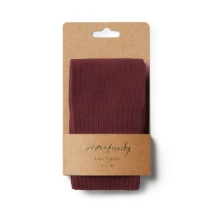 Wilson and Frenchy Ribbed Tights (wild ginger)
