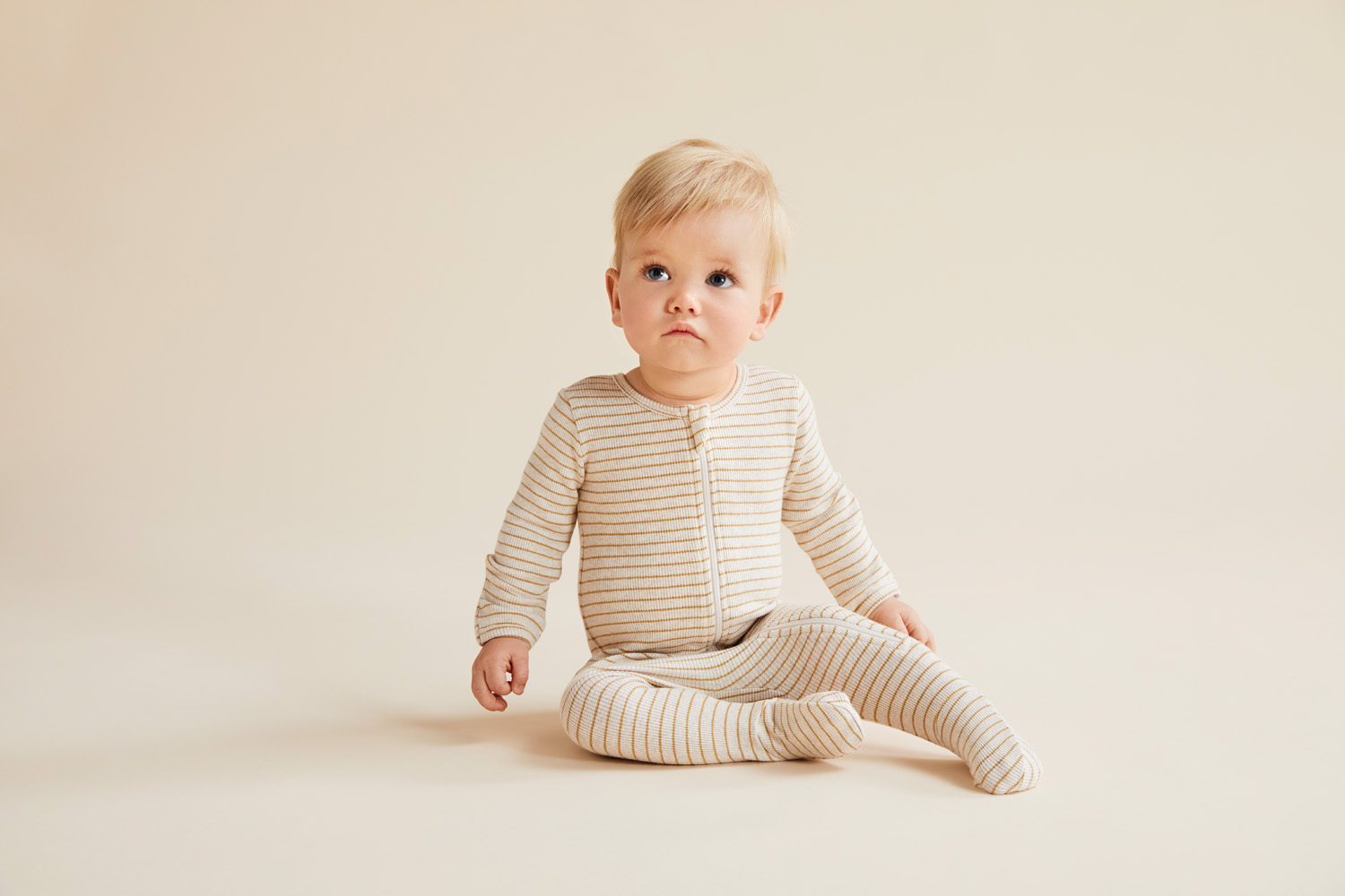 Wilson and Frenchy Organic Stripe Rib Zipsuit