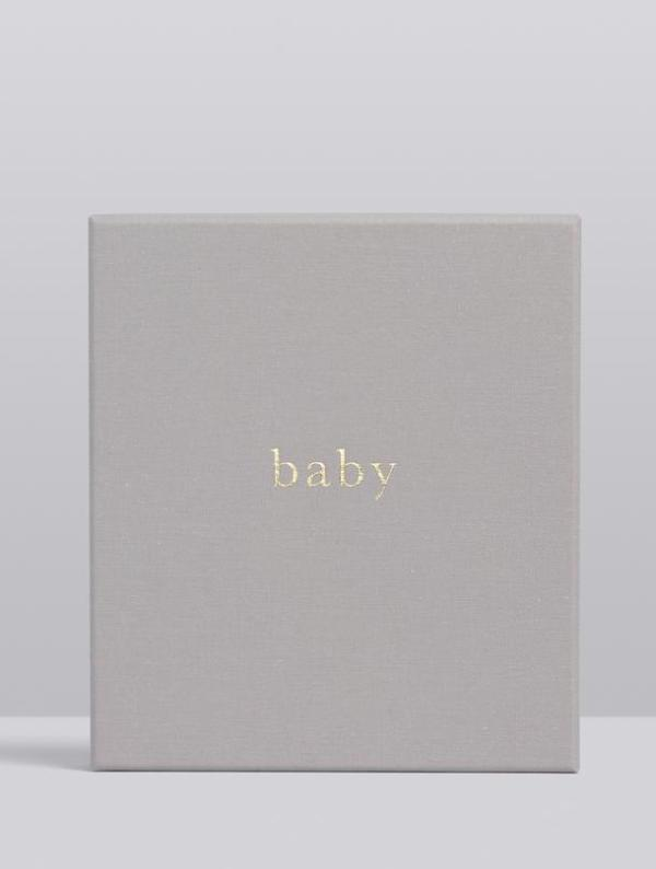 Write to Me Baby Journal - Your First Five Years (light grey)
