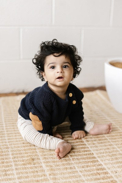 Two Darlings Baby Knit Sweater (midnight)** Pre Order