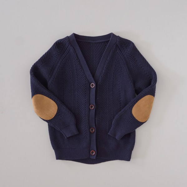 Two Darlings Kids Knit Cardigan (midnight) ** Pre Order