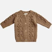 Miann and Co Bobble Knit Cardigan (chestnut)
