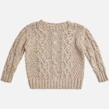 Miann and Co Cable Knit Jumper (barley)