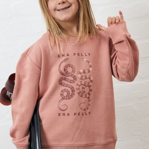 Ena Pelly Ying Yang Sweat (cameo pink)