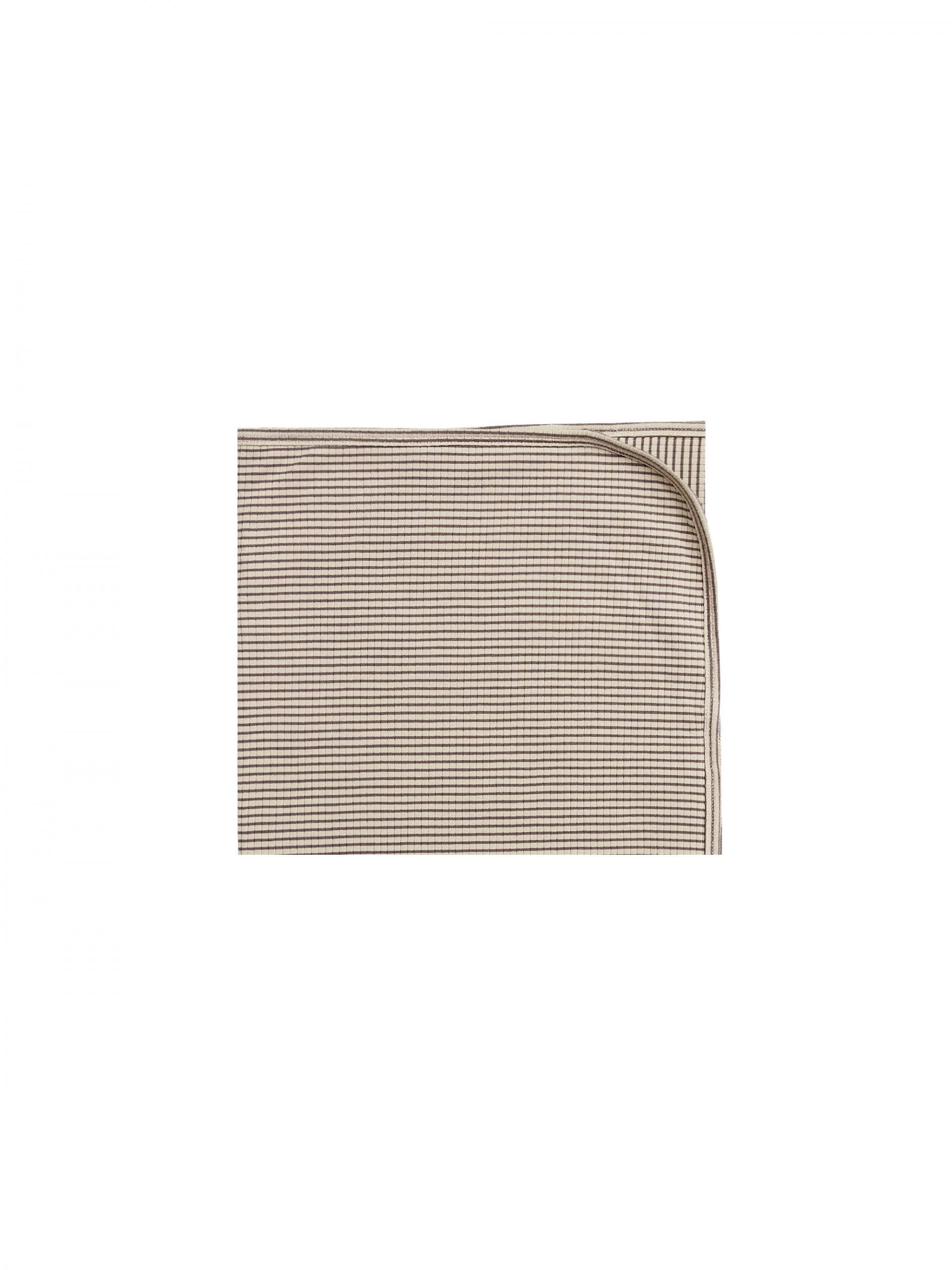 Quincy Mae Ribbed Baby Blanket (charcoal stripe)