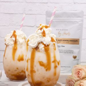 Milk and Cookies By Jewels Luxe Lactation Drinking Chocolate (white chocolate)