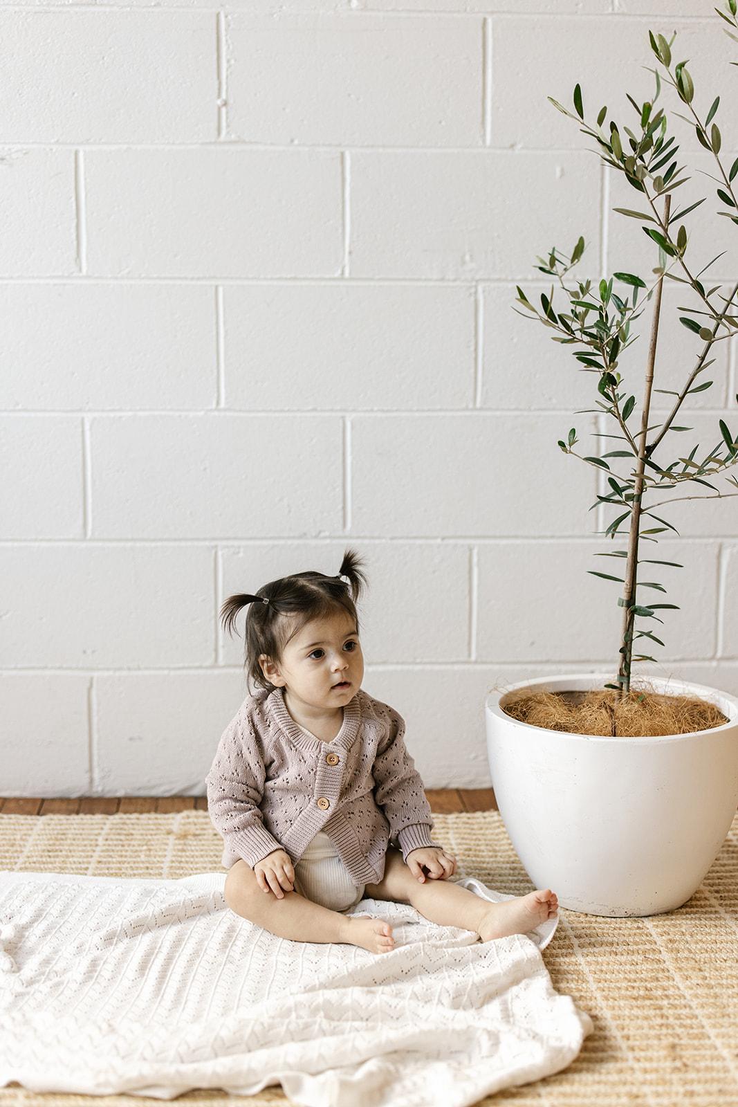 Two Darlings Knit Baby Cardigan (dusty lilac)