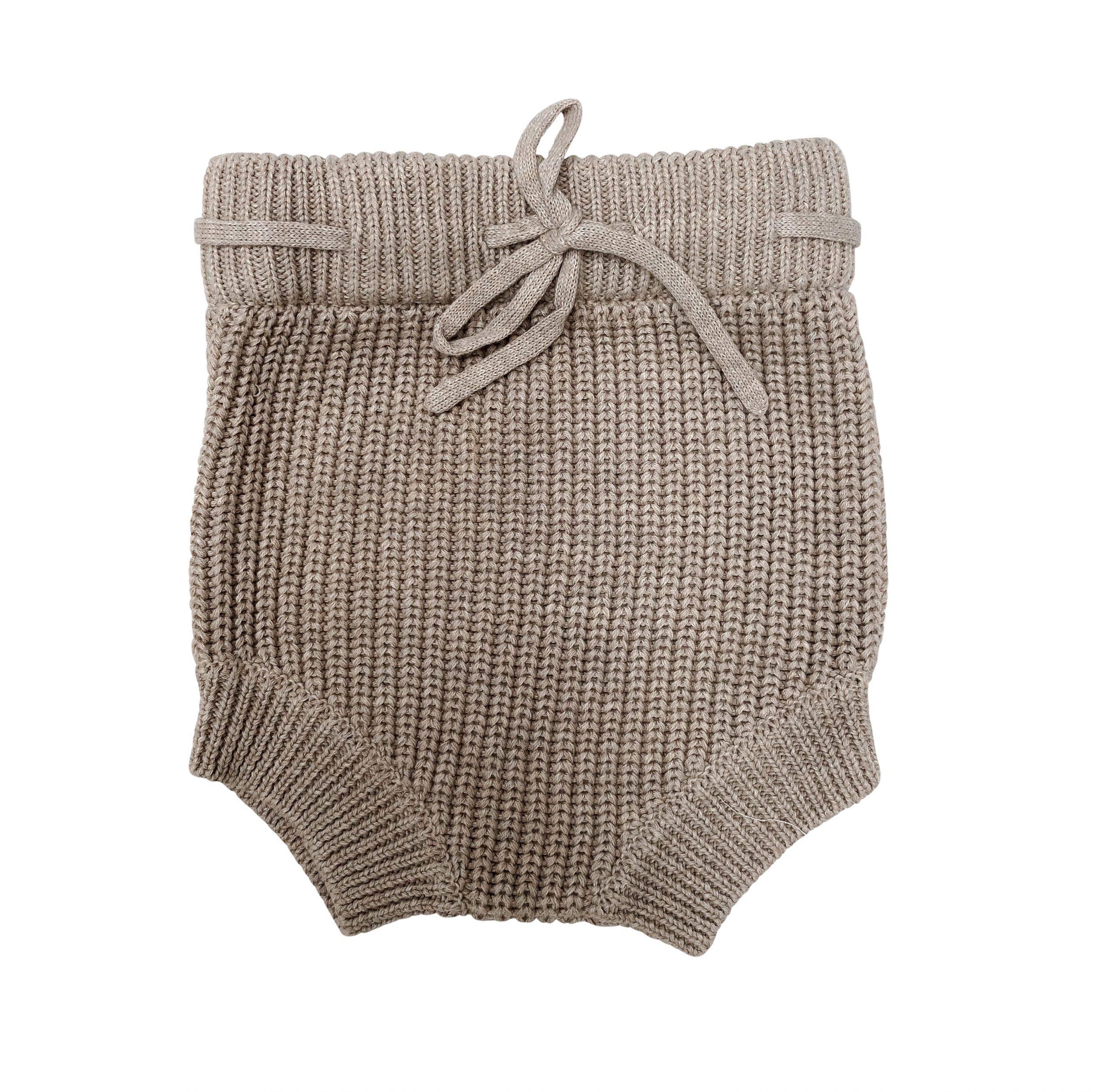 Pop Ya Tot Knitted Shorties (beige)