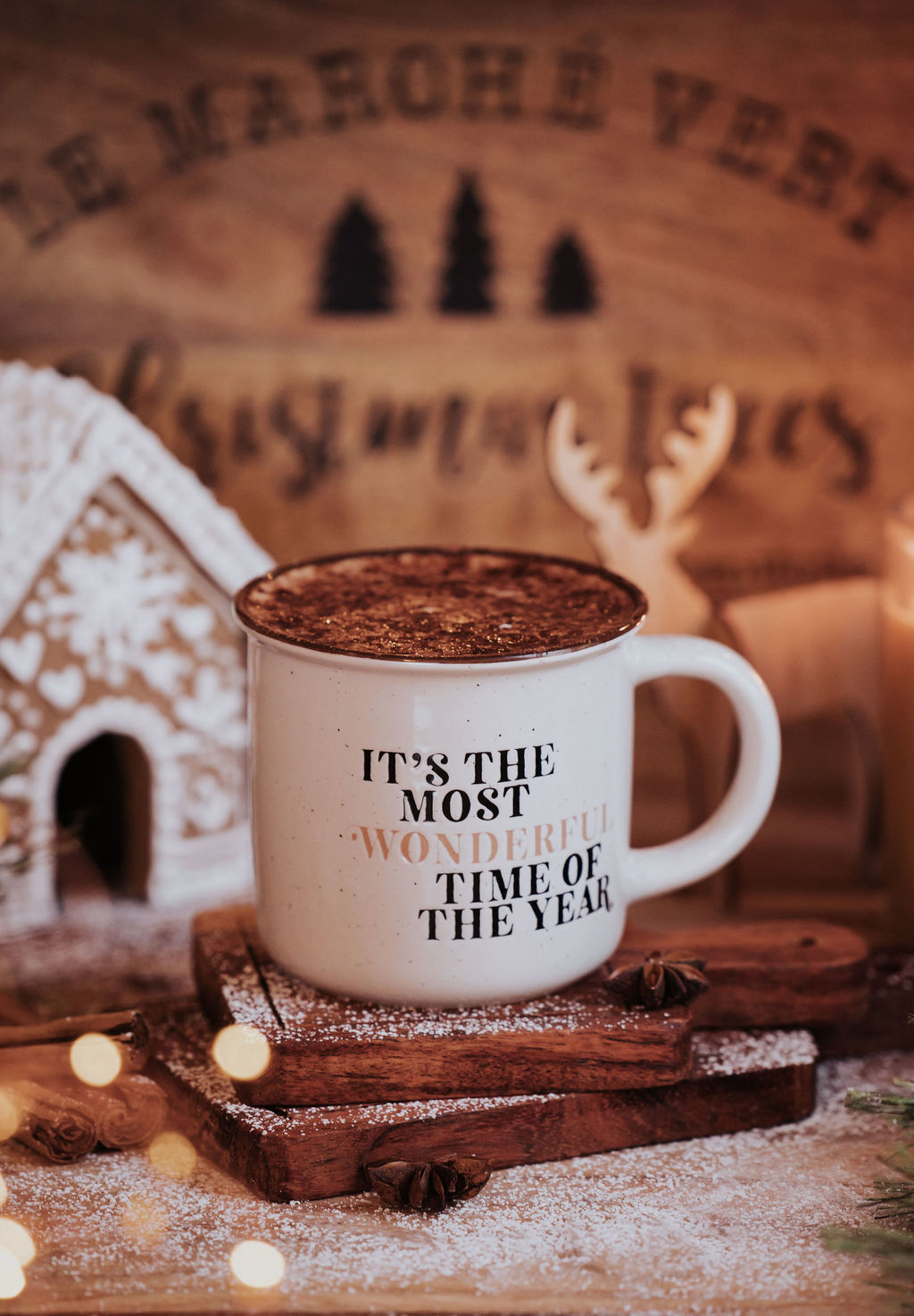 """Bencer and Hazelnut """"The Most Wonderful Time Of Year"""" Mug **PRE ORDER"""