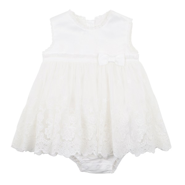 Bebe Lace Overlay Romper (ivory)