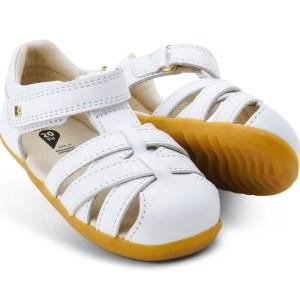 Bobux Step Up Cross Jump Sandal (white)