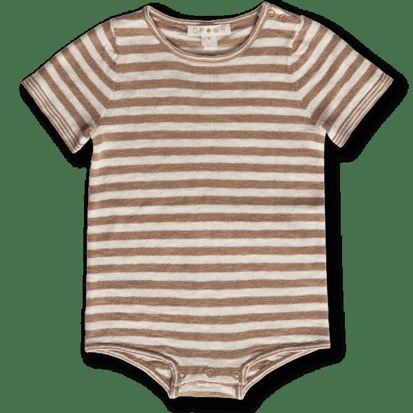 Grown Stripe Bodysuit (cedar/milk)