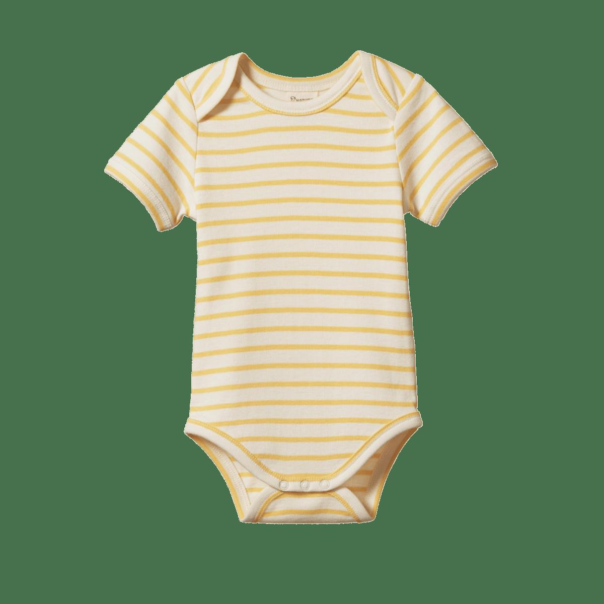 Nature Baby Short Sleeve Bodysuit  (sunshine salior)