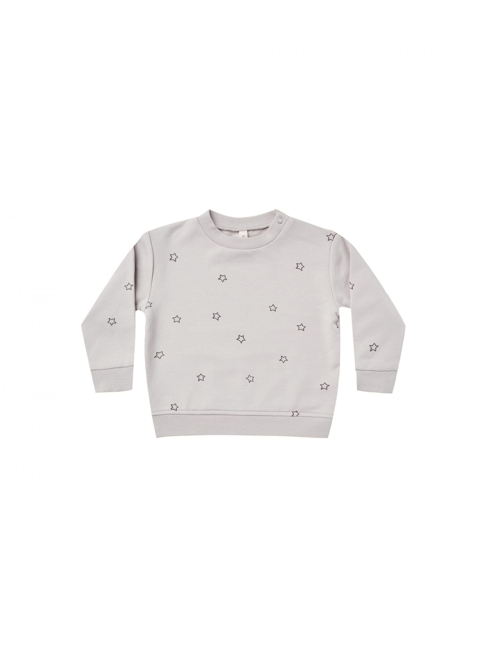 Quincy Mae Fleece Sweatshirt (stars ash)**PRE ORDER