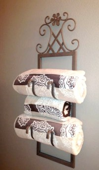 From Wine Rack to Towel Holder - Love My DIY Home