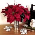 DIY poinsettia flower arrangement   Love My DIY Home