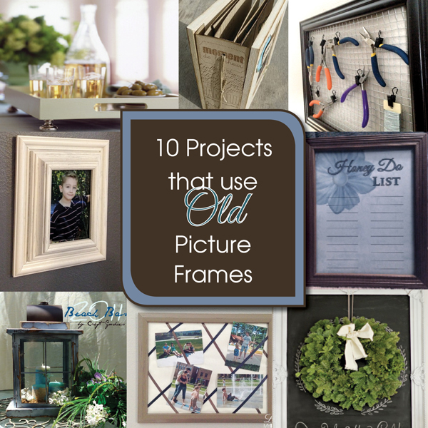 10 diy projects to upcycle old picture frames a free printable