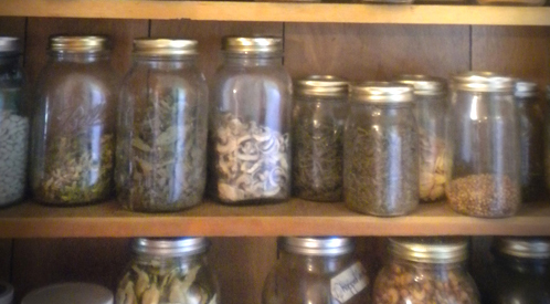 Canning jars for food storage