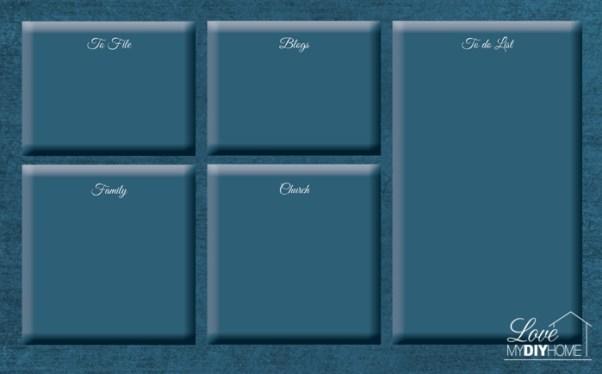 DIY desktop organizer