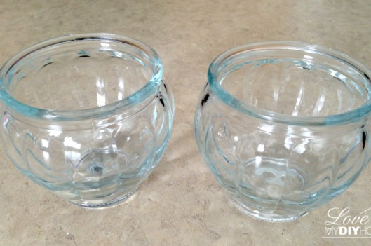 Glass bowls on their way to Goodwill