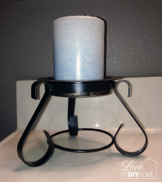 metal candle holder upcycled