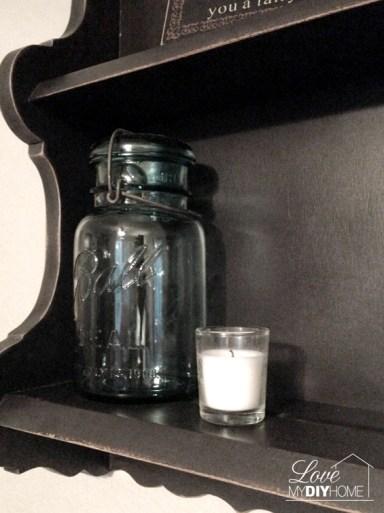 Mason jar shelf redo | Love My DIY Home