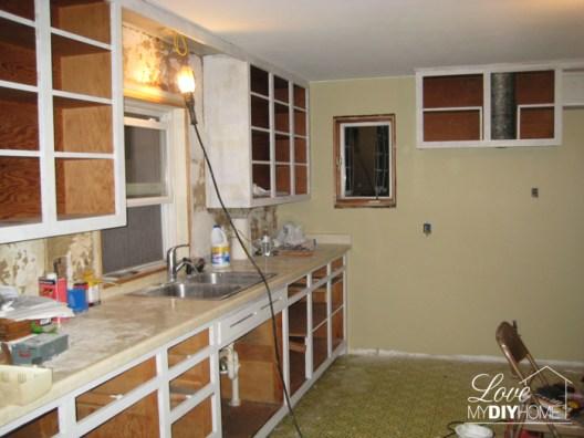 Kitchen Reno Progress {Love My DIY Home}