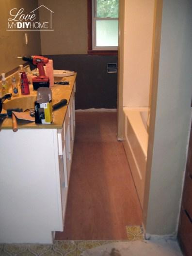 Bathroom Reno Progress {Love My DIY Home}