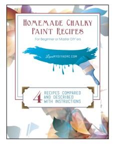 Homemade Chalk Type Paint Recipes {Love My DIY Home}