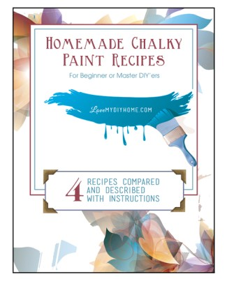 Homemade Chalk Type Paint Recipes {Love My DIY Home}