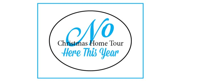 No Christmas Home Tour Here