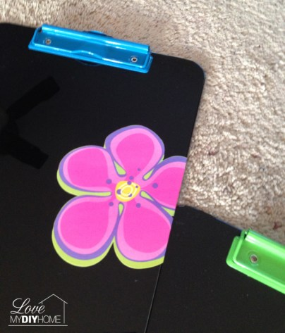 Neon Clipboard Transformation {Love My DIY Home}