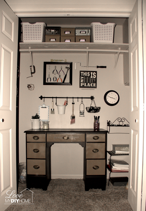 Craft Room Closet Reveal {Love My DIY Home}