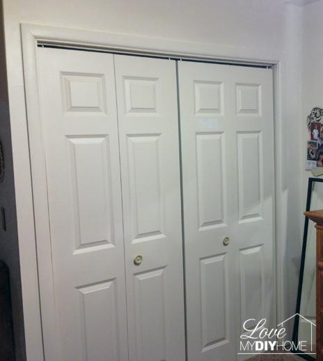 Craft Closet Reveal before {Love My DIY Home}
