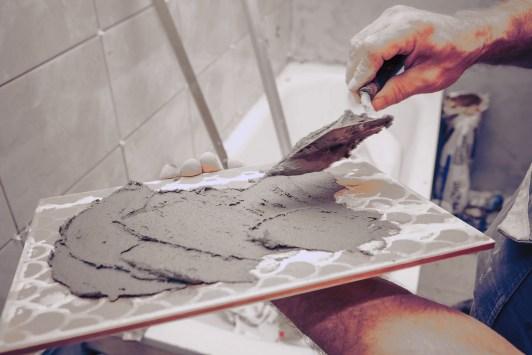 DIY bathroom tile installation {Love My DIY Home}