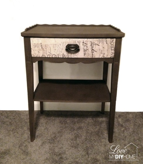 Antique Night Stand Flip {Love My DIY Home}