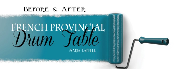10 Step DIY French Provincial Drum Table Revival by Maria LaBelle