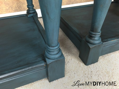 Painted End Tables & Wise Owl Chalk Synthesis Paint {Love My DIY Home}