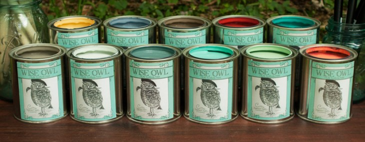 Twin End Tables & Wise Owl Chalk Synthesis Paint